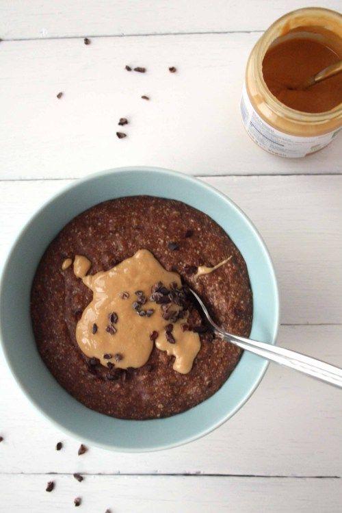 Schokolade zum Frühstück: Zuckerfreies Chocolate-Peanutbutter Oatmeal · Homemade Deliciousness