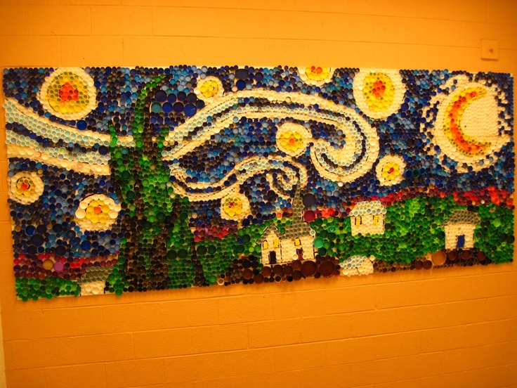 94 best craft ideas for camp images on pinterest craft for Bottle cap mural tutorial