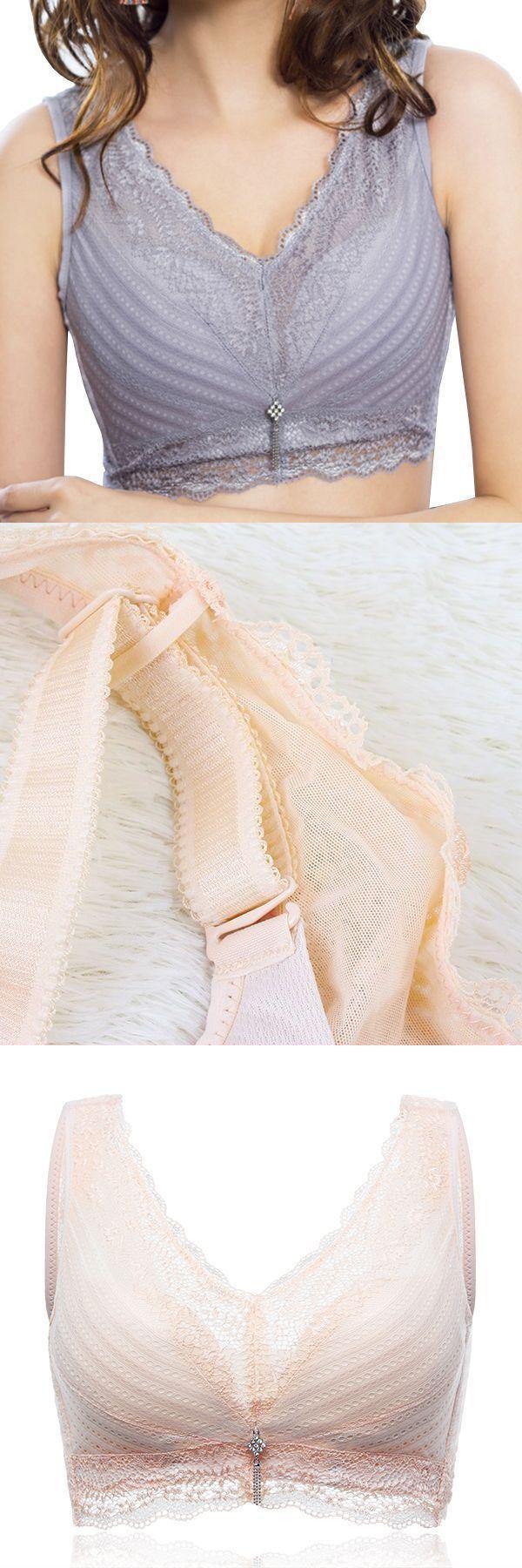 Sexy comfortable seamless wireless mesh wide-set double straps adjustable bras bra set bra set #bra #new #fashion #fantasy #bra #2015 #fashion #show #lady #bra #fashion #design #open #bra #fashion #show