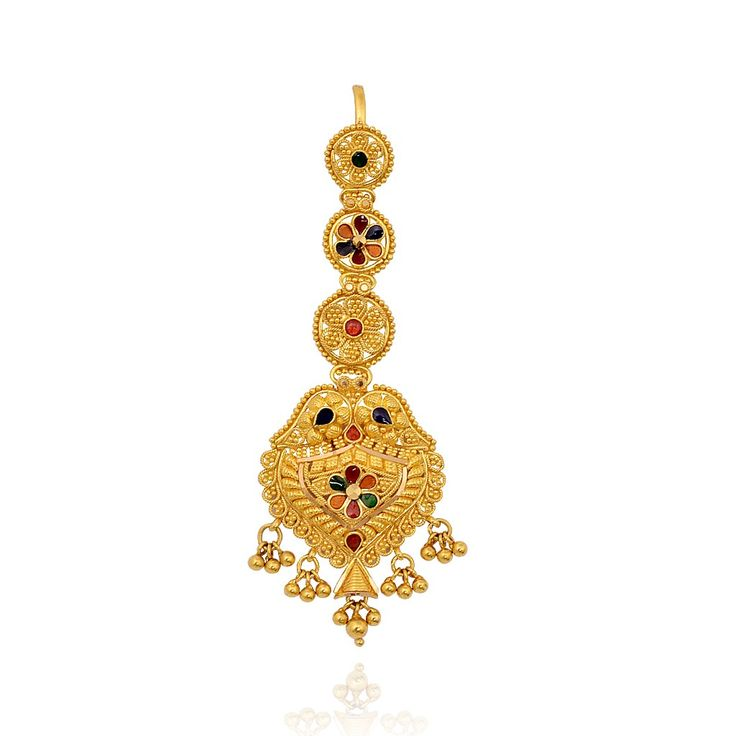Sparkling Gold Bridal Tikka For Princess