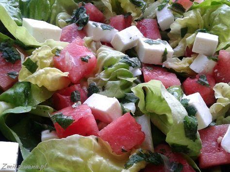 #Salatka z #arbuzem i #feta - niebanalne połączenie smaków...