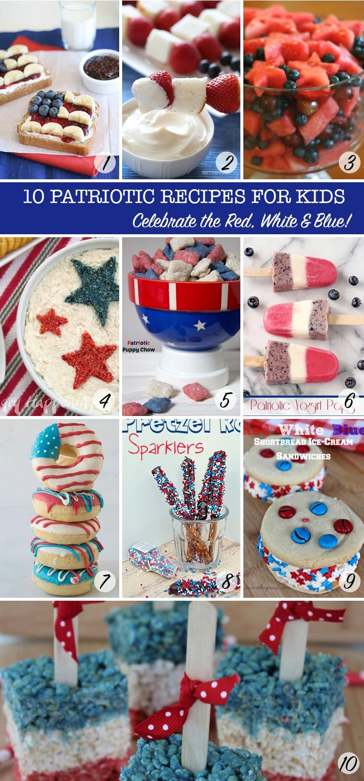 LOVING these Red, White and Blue recipes - so patriotic - the kids will love them too!