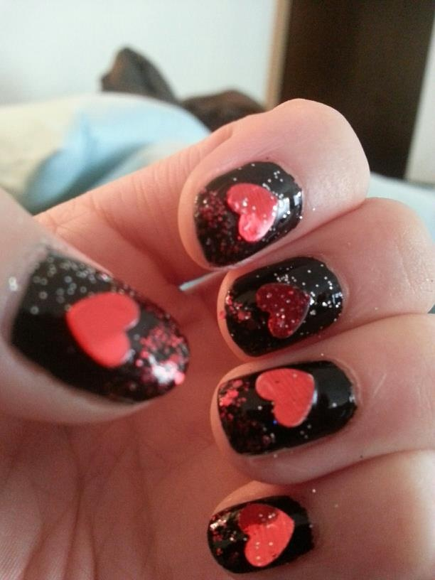 Valentine's Day Nails    LIKE MY PAGE!    www.facebook.com/trendynailsbyamanda