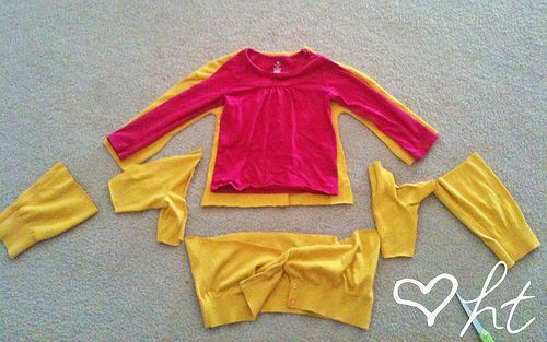 Turn an adult cardigan into a kids cardigan tutorial. Could do for boys as well - make vintage inspired cardigan.