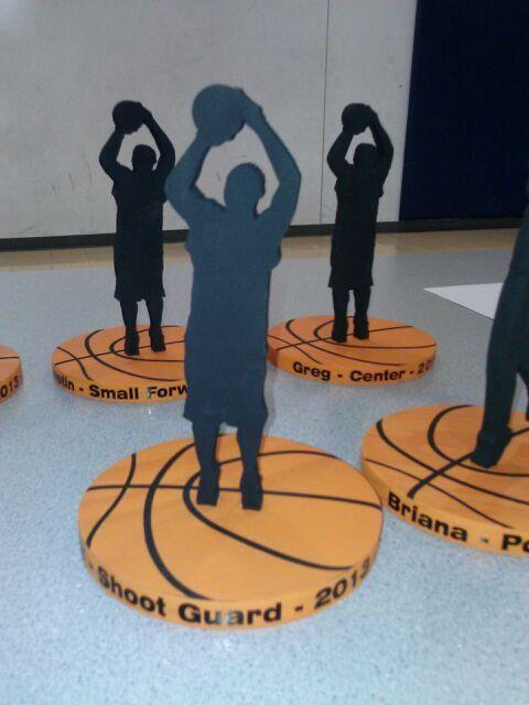 Basketball Cut-Out Templates | End of season basketball awards.