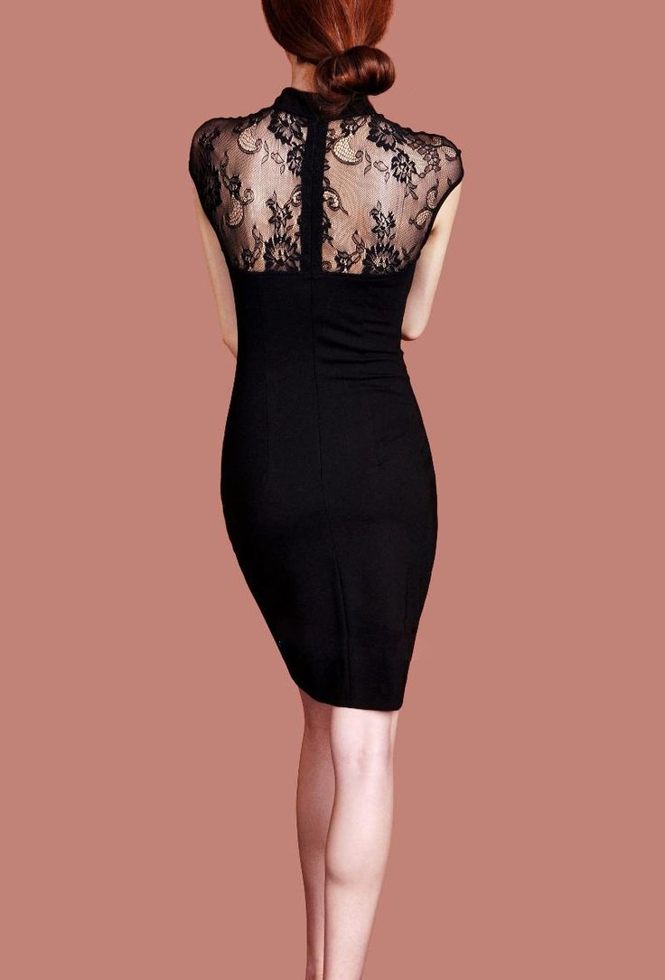 very elegant Qipao version - great back! | 长三 | Lace dress ...
