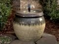 From Lowe's....very easy instructions and supply list for building this water feature, a disappearing fountain.