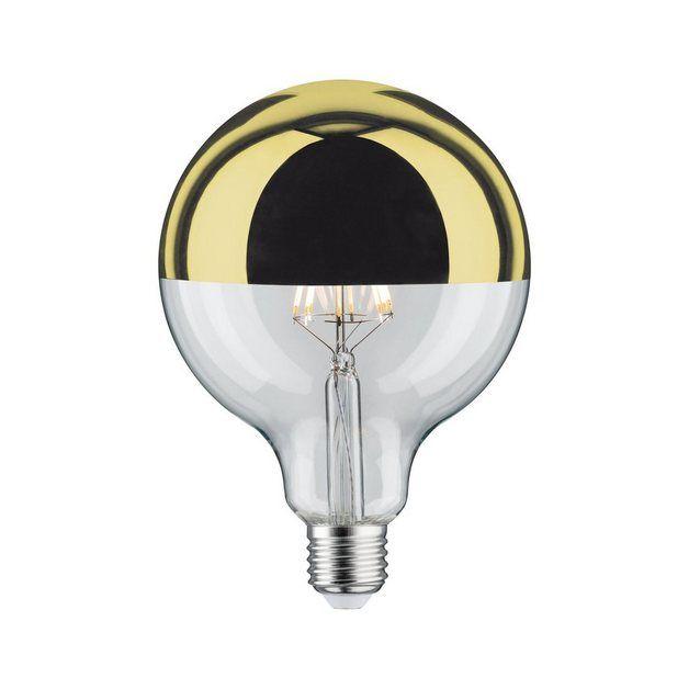 Globe 125 Kopfspiegel Gold 5w E27 Warmweiss Dimmbar Led