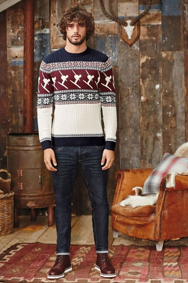 Proof That Christmas Jumpers Can Be Stylish Christmas Outfit Men Mens Christmas Jumper Men Christmas Outfit