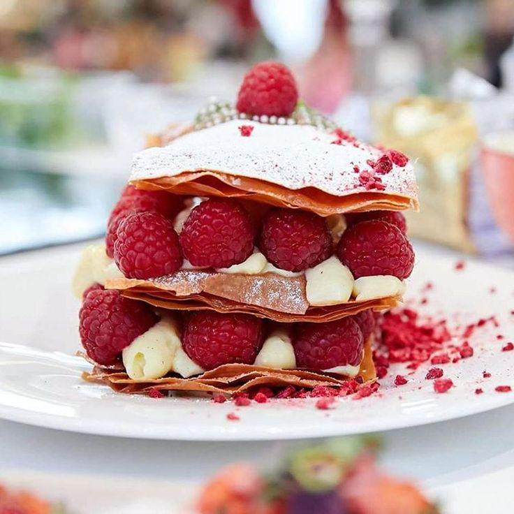 "145 Likes, 3 Comments - Bogdan Alexandrescu (@dexterchef) on Instagram: ""Raspberry milfeuille from my cooking show at Sun Plaza @sun_plaza  shot by: @sabin74 Sabin…"""