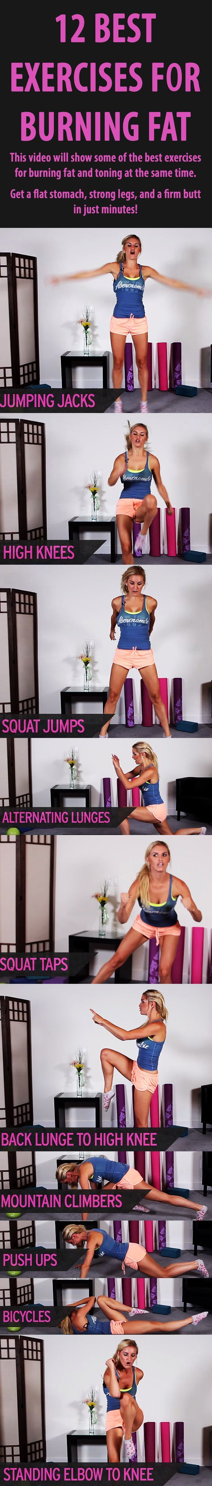 Do these for HIIT workout | Calorie burning workout: 12 absolutely best exercises for BURNING FAT.