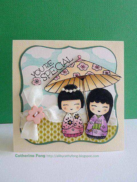 Japanese dolls under a parasol...adorable!!!