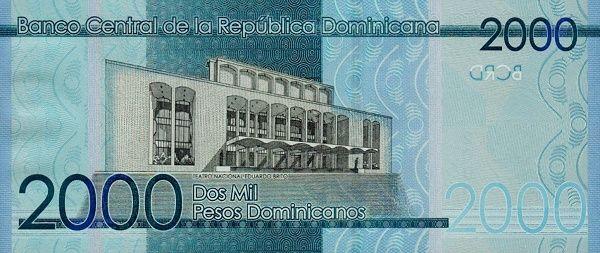Matawang Republik Dominika (DOP) 2000 Pesos Dominicanos