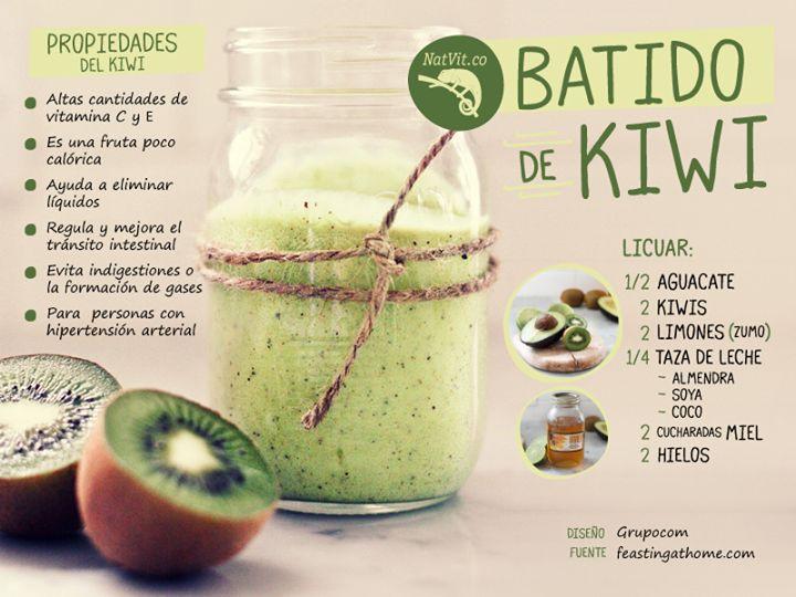 Verde y Natural: Super batido de kiwi saludable
