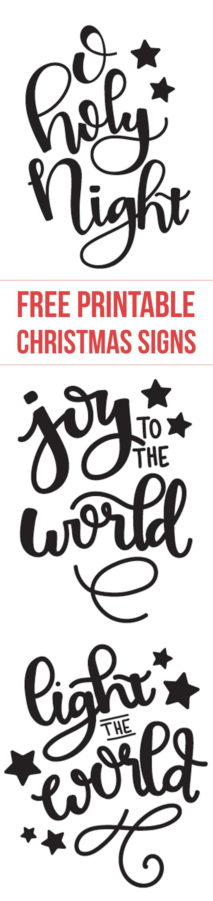 Free printable Christmas designs -O Holy Night - Joy to the World - Light the world