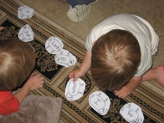 Parable of Lost Sheep - Number sheep 1-10, hide one. Have kids put the sheep in order. Find the lost sheep. Game - Hide and Go Seek by carrying the person hiding back on back like a lamb - such a cute idea!!