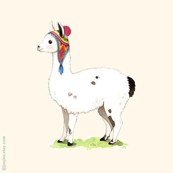 ABC animals Llama print Llama painting Llama by joojoo on Etsy, $8.00