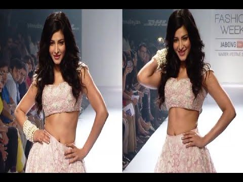 Shruti Haasan's stunning ramp walk at Lakme Fashion Week 2014.