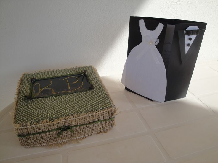 wedding card & box by lena souf