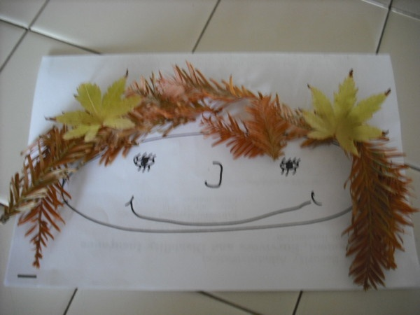Leaf people preschool activity: