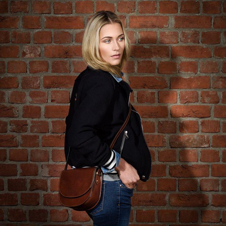 Scotch & Vain small cross-body bag - leather bag with shoulder strap TRISH - shoulder bag tan-cognac leather: Amazon.co.uk: Shoes & Bags