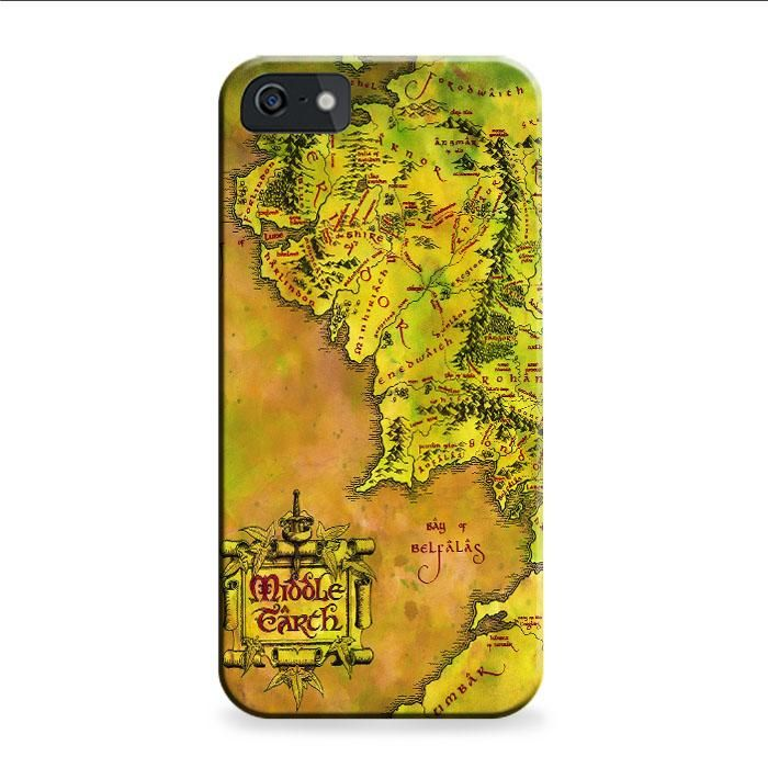 Map For Lord Of The Rings%0A Middle Earth Map iPhone      S  D Case