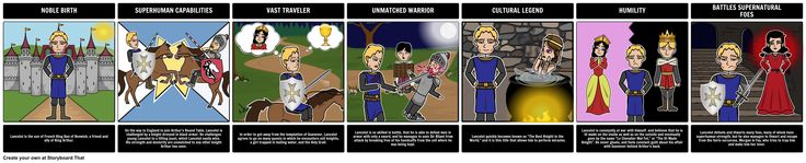 """The Once and Future King - Epic Hero: For this activity, have students create a storyboard with examples for an Epic Hero from """"The Ill-Made Knight""""."""