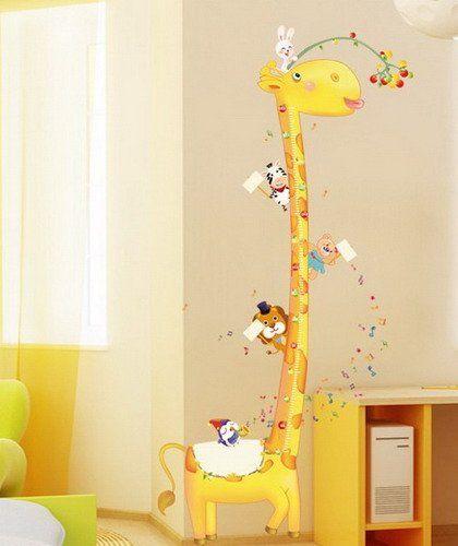 Superb Gro e Giraffe Wandaufkleber Ma band Messlatte Wandtattoos Growth Chart Wandsticker Geschenk f r Kinderzimmer Gr