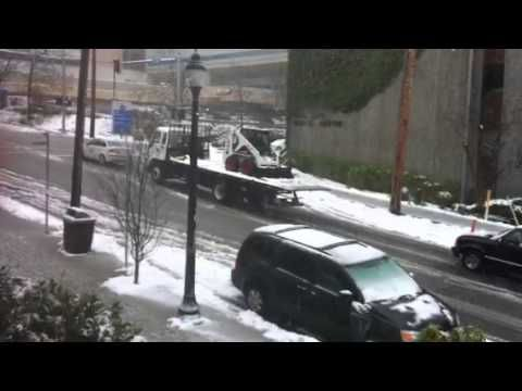 Would you like to drive on these snowy and icy roads??? - YouTube