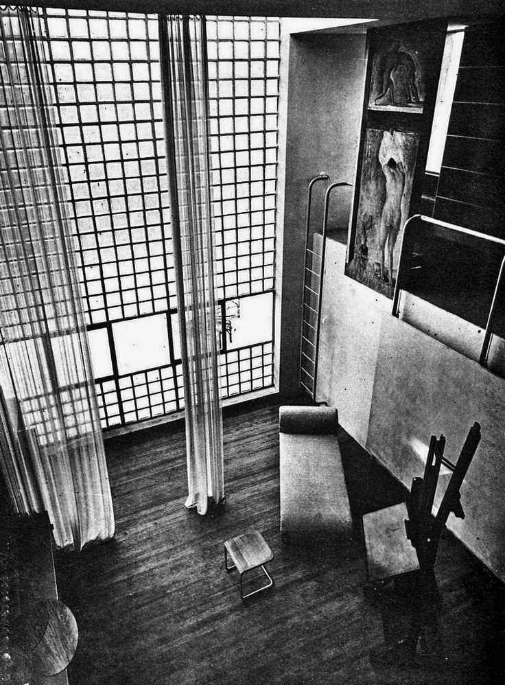 Giuseppe Terragni - House for an artist, Milan 1933. Via.