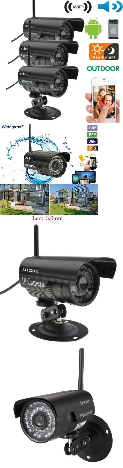 Security Cameras: 3X Sricam Outdoor Wireless Wifi Security Webcam Ir Ip P2p Camera Android System -> BUY IT NOW ONLY: $95.62 on eBay!