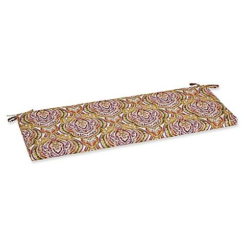 Outdoor Bench Cushion in Avaco Sunset