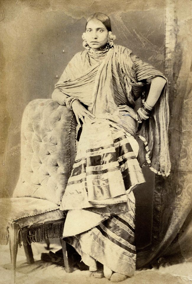 In this rare collection of photographs we encounter the sumptuously attired courtesans of Lucknow. Dated from 1874 and titled 'Beauties of Lucknow,' the album offers a tantalizing view into the lives of these women.