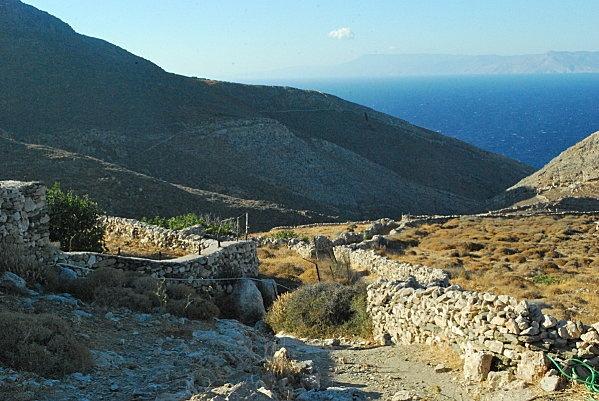 murs-de-pierres-seches - Syros (Grèce)