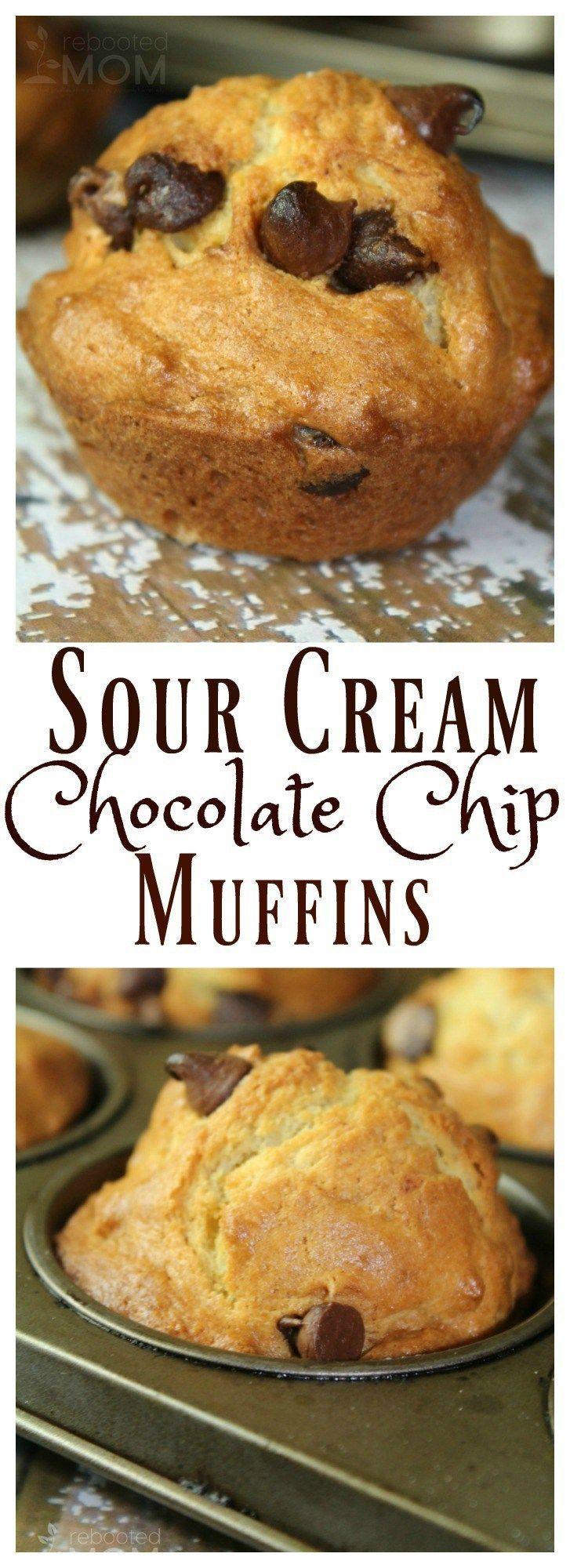 Sour Cream Chocolate Chip Muffins