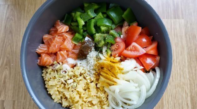 One pot pasta saumon et lait de coco