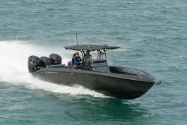 Thrilling Video: Take a Ride with Seven Marine's 557 hp Outboards Aboard the Midnight Express 39 Open.