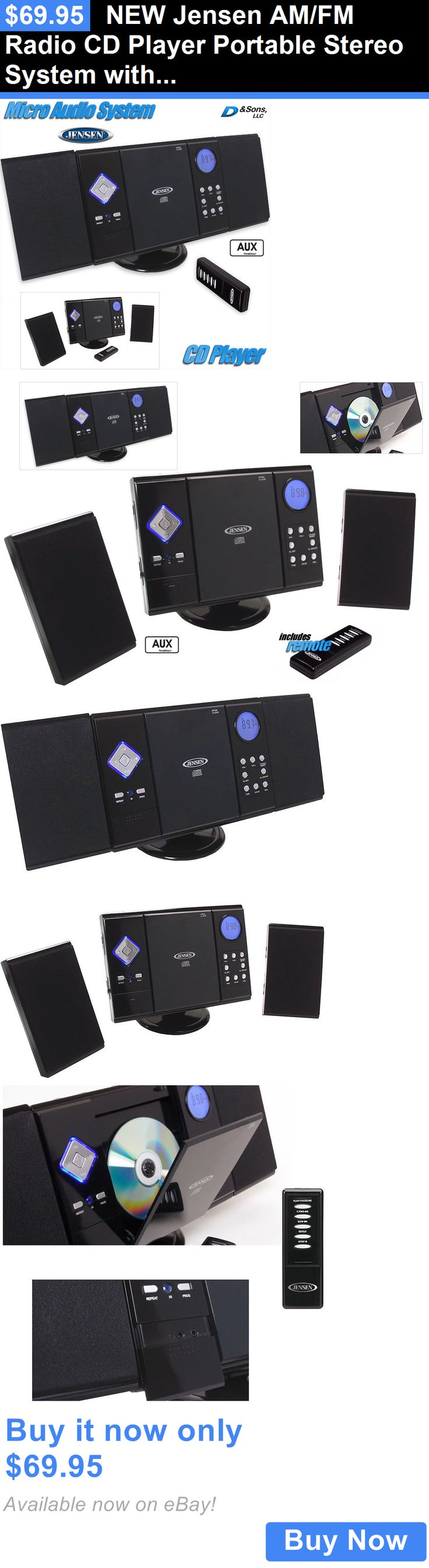 Home Audio: New Jensen Am/Fm Radio Cd Player Portable Stereo System With Aux-Input BUY IT NOW ONLY: $69.95