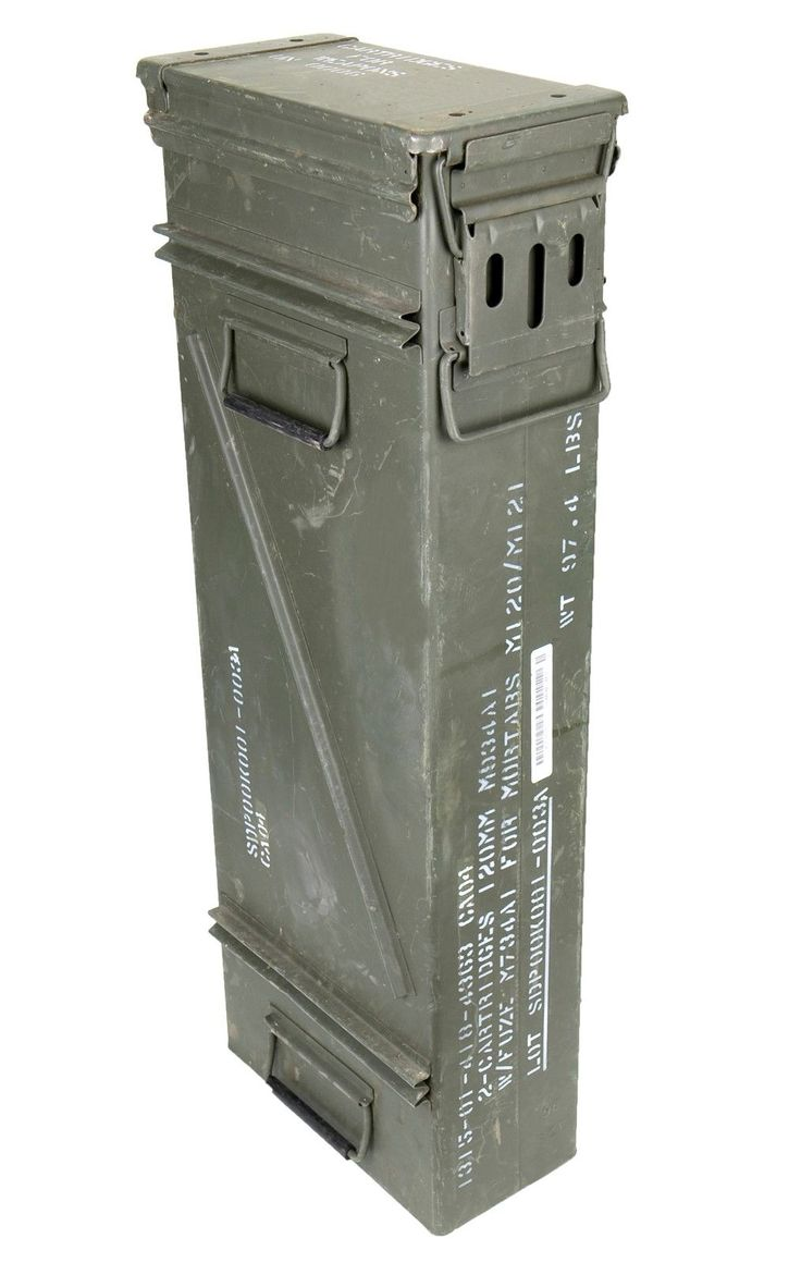 Details about us army olive large tall metal ammo box used