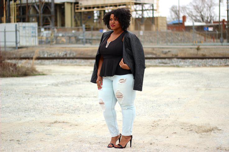 Charlotte Russe Plus Size Boyfriend Skinny Jeans