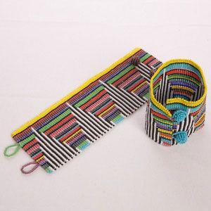 Beaded Bracelets: African Rainbow Beaded Cuff Bracelet