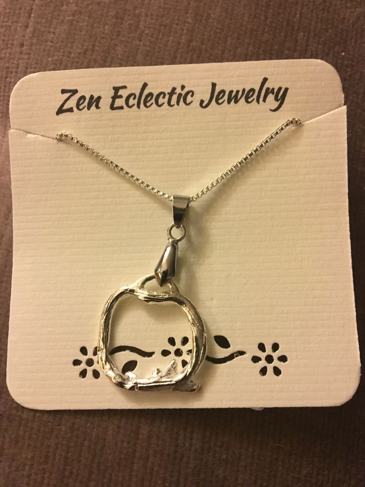 Sterling silver handmade branch necklace - simple and gorgeous. Perfect for everyday wear or a night out