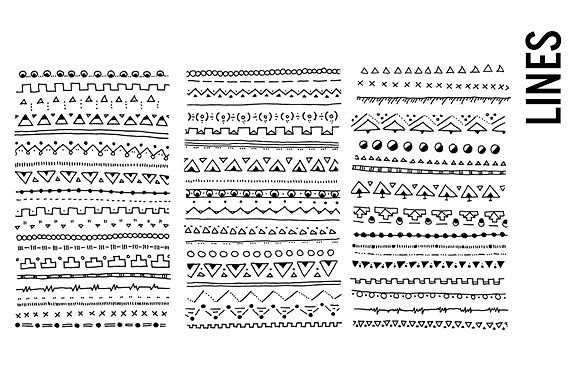 Border Lines, Doodled, Clipart by Pepper on @creativemarket