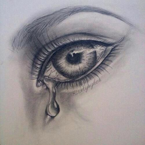 Crying eye drawing