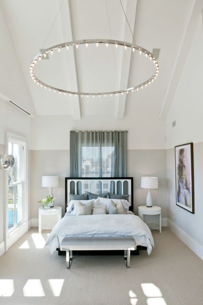 very large chandelier-hoop with many small lamps with E14. A great option for a high vaulted ceiling, especially