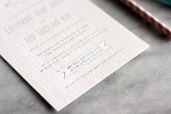 Rustic Faux Bois Wedding Invites from Truly Smitten on Oh So Beautiful PaperLights Wood, Fake Wood, Modern Rustic, Rustic Weddings, Sweets Invitations, Invitations Ideas, Invitations Inspiration, Rustic Wedding Invitations, Rustic Faux