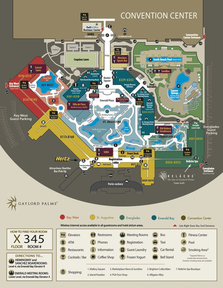 Map Of Hotels Near Orlando Convention Center