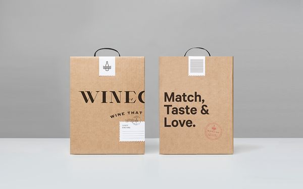 17 best images about take away packaging on pinterest for Best wine delivery service