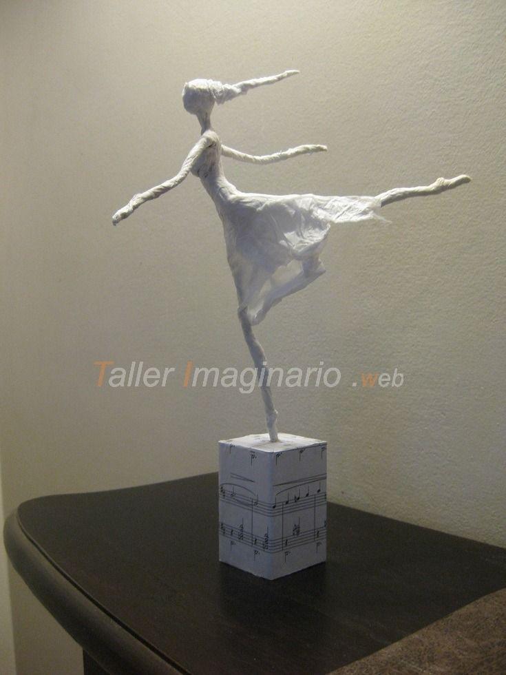 bailarinas de papel - esculturas arte  deco hecho a mano
