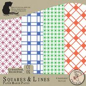 Squares & Lines Paper Maker Pack - $4.00